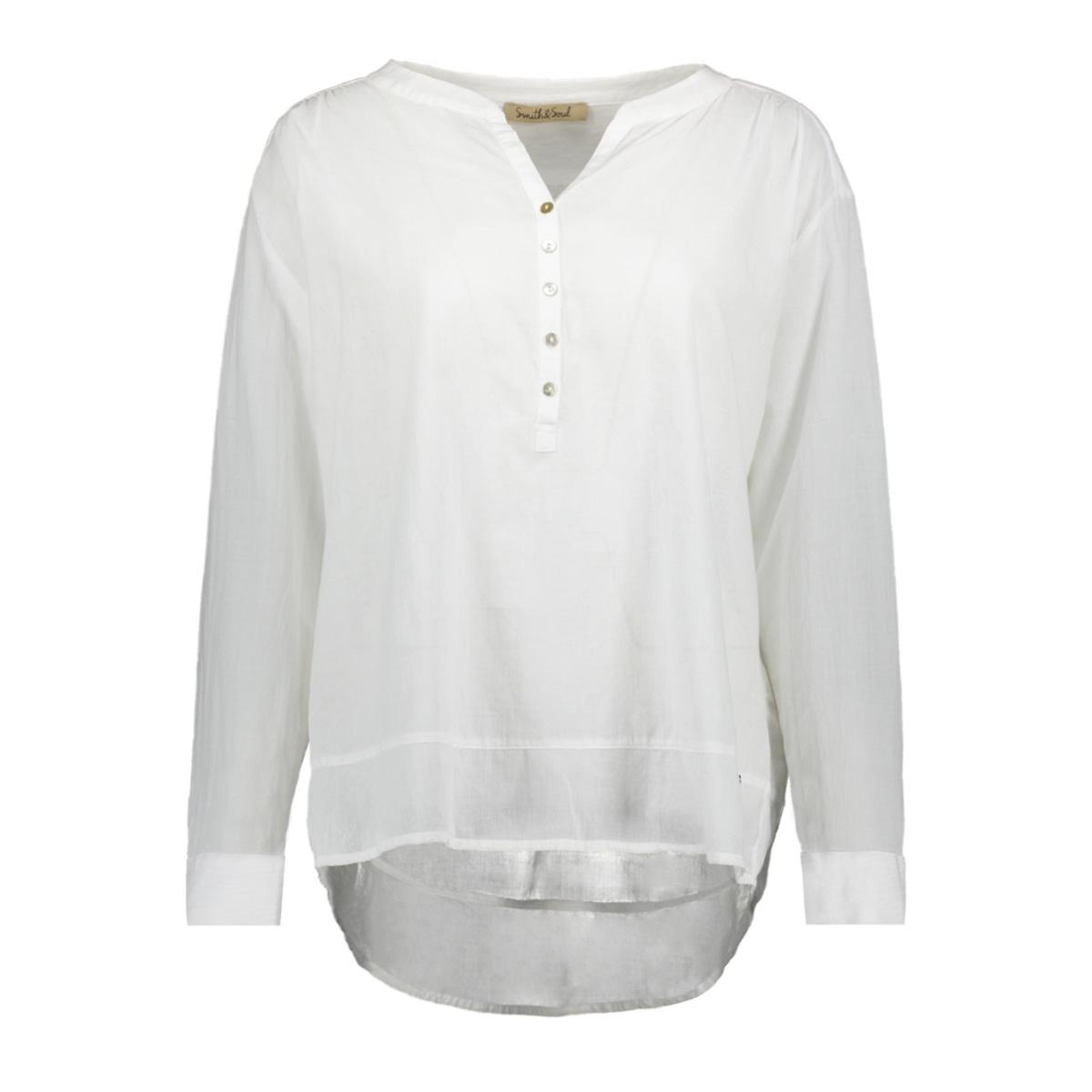 plain blouse 0419 0200 smith & soul blouse white