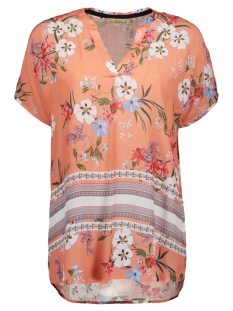 Smith & Soul Blouse V-NECK BLOUSE PRINT 0419 7018 CORAL/COLORFUL