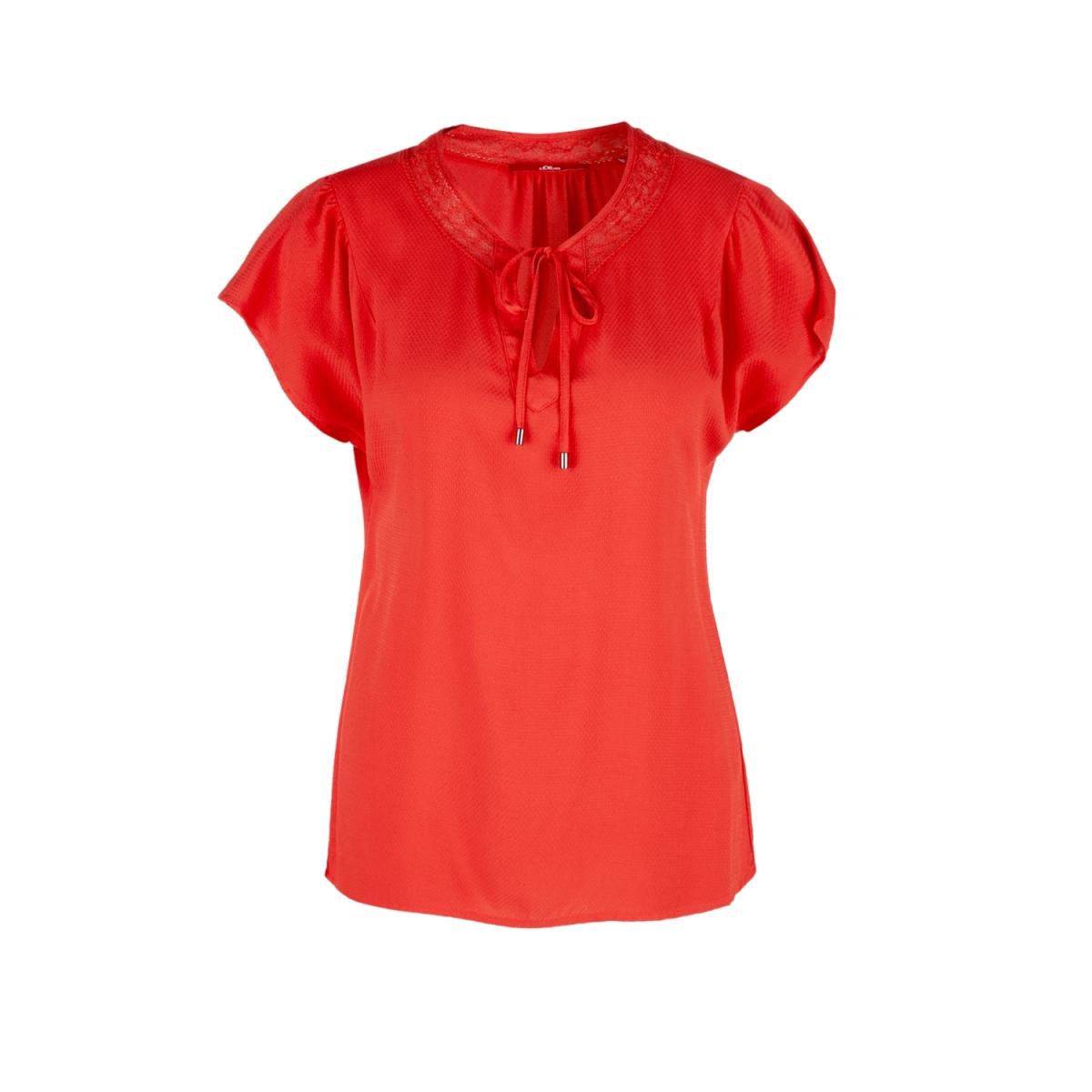 blouse met v hals en strik sluiting 14904125318 s.oliver blouse 2610