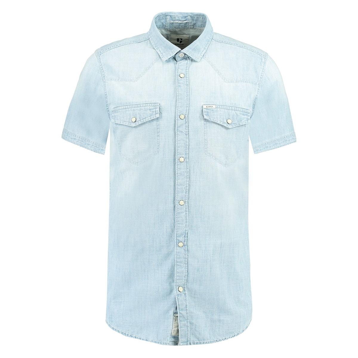 lichtblauw denim overhemd d91238 garcia overhemd 1913 light indigo