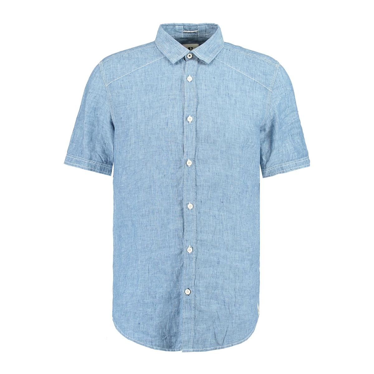 blauw linnen overhemd e91031 garcia overhemd 1050 indigo