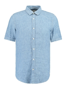 Garcia Overhemd BLAUW LINNEN OVERHEMD E91031 1050 INDIGO