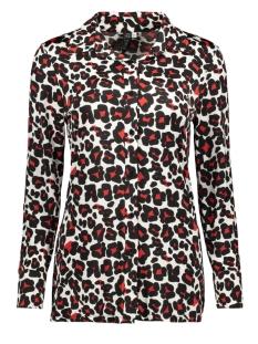 blouse basic 3332 iz naiz blouse leopard white red