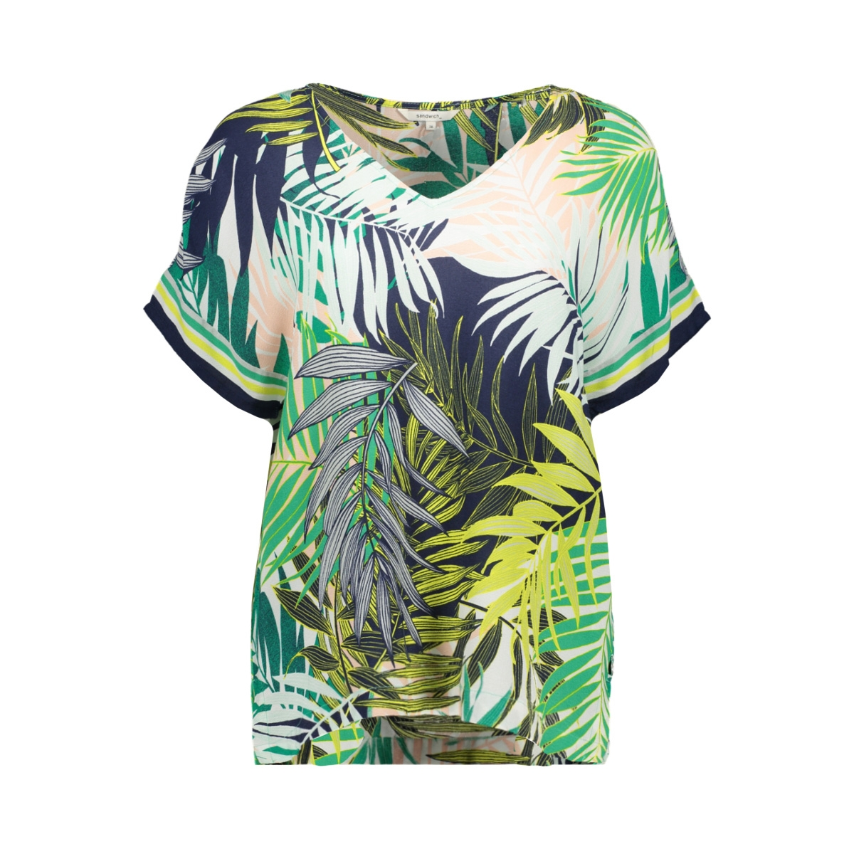 gebloemd t shirt 22001671 sandwich t-shirt 50024