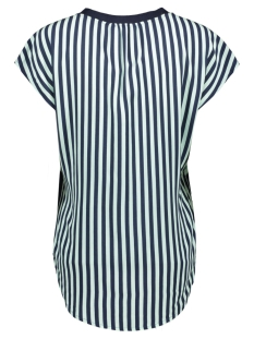 gebloemde blouse met streepdetail 22001680 sandwich blouse 40115