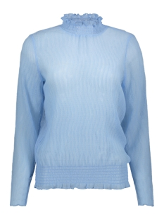 Saint Tropez Blouse BLOUSE WITH FLOUNCE DETAIL T1066 9332 BLUE