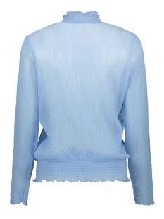 blouse with flounce detail t1066 saint tropez blouse 9332 blue