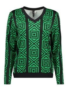 IZ NAIZ Blouse BLOUSE GRAPHIC 3576 GREEN