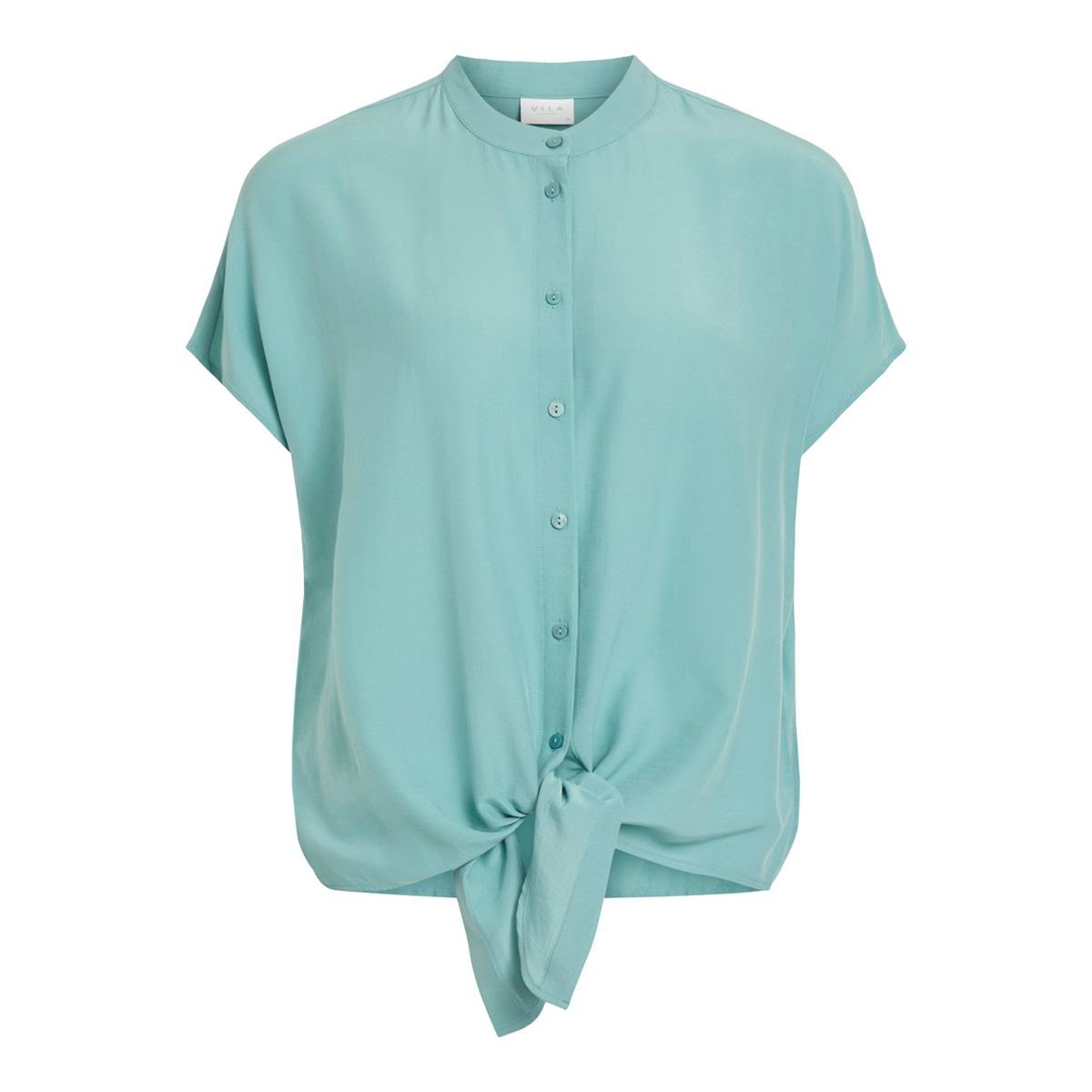 vithoma tie shirt-fav nx 14053485 vila blouse oil blue