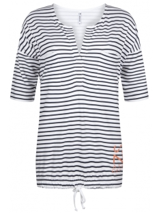 Zoso T-shirt AIVY STRIPED BLOUSE 192 NAVY/SALMON