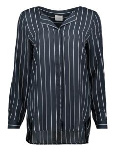 vilucy l/s shirt - fav 14044583 vila blouse total eclipse/snow white