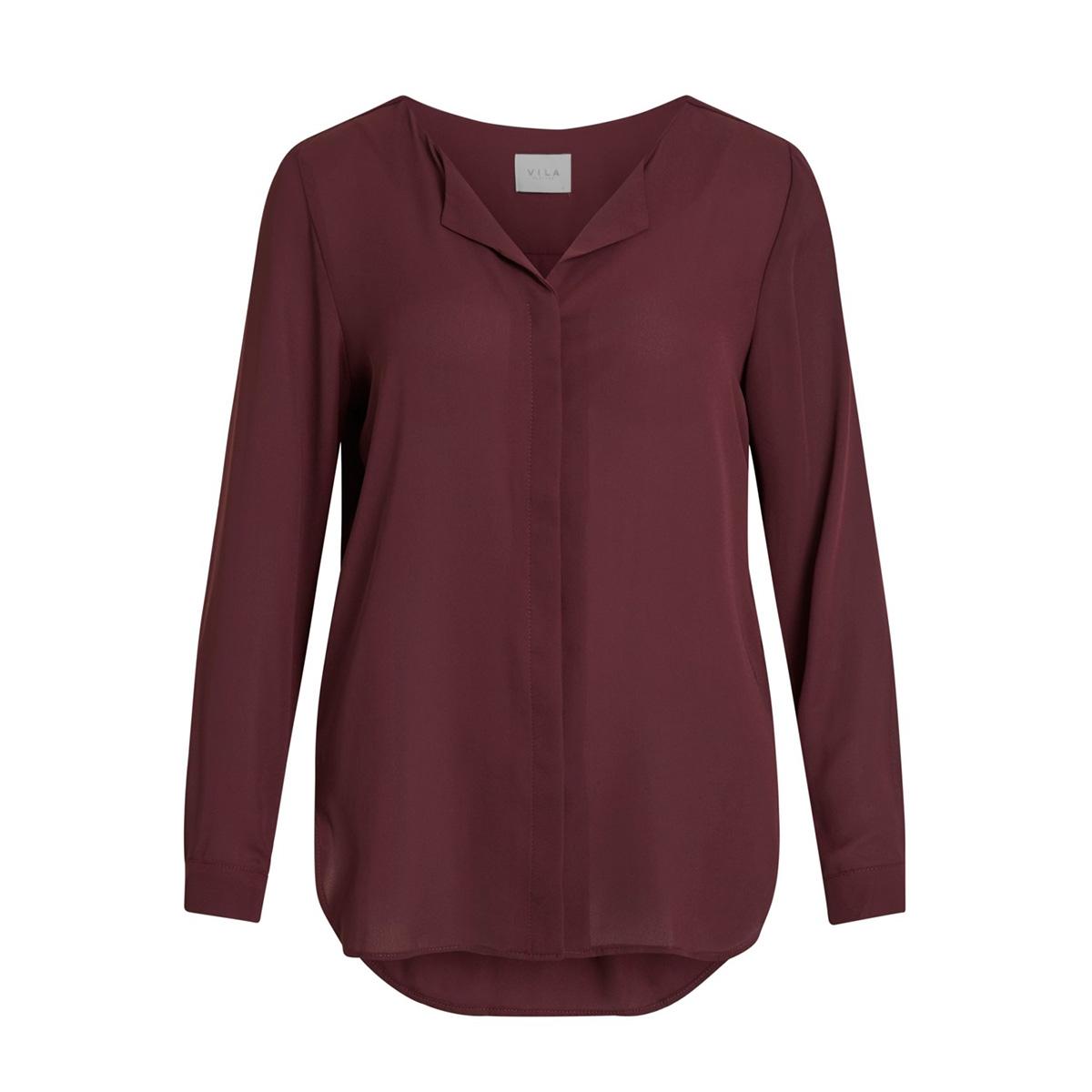vilucy l/s shirt - noos 14044253 vila blouse winetasting