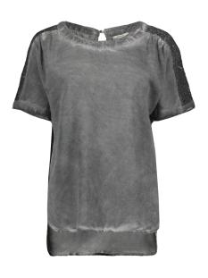 Sandwich T-shirt T SHIRT MET KANTEN DETAILS 22001467 80077