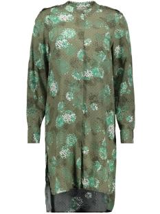 blouse met split en blinde knoopsluiting 22001473 sandwich blouse 50015