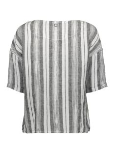 linnen blouse met borstzak 22001495 sandwich blouse 80041