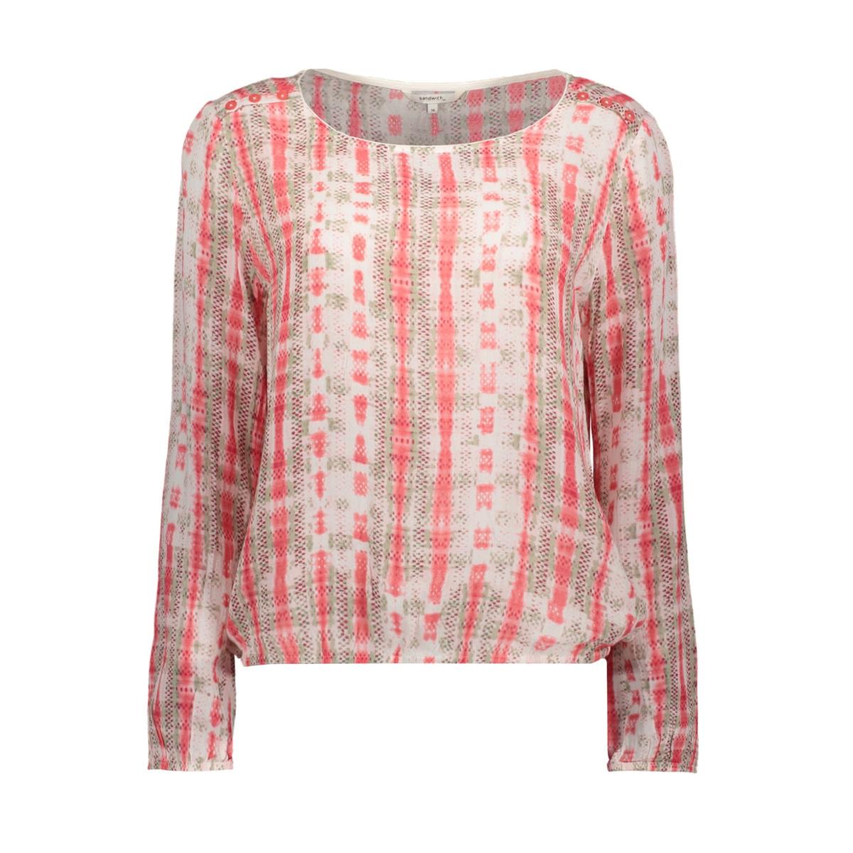 blouse met sierknoopjes 22001687 sandwich blouse 20106