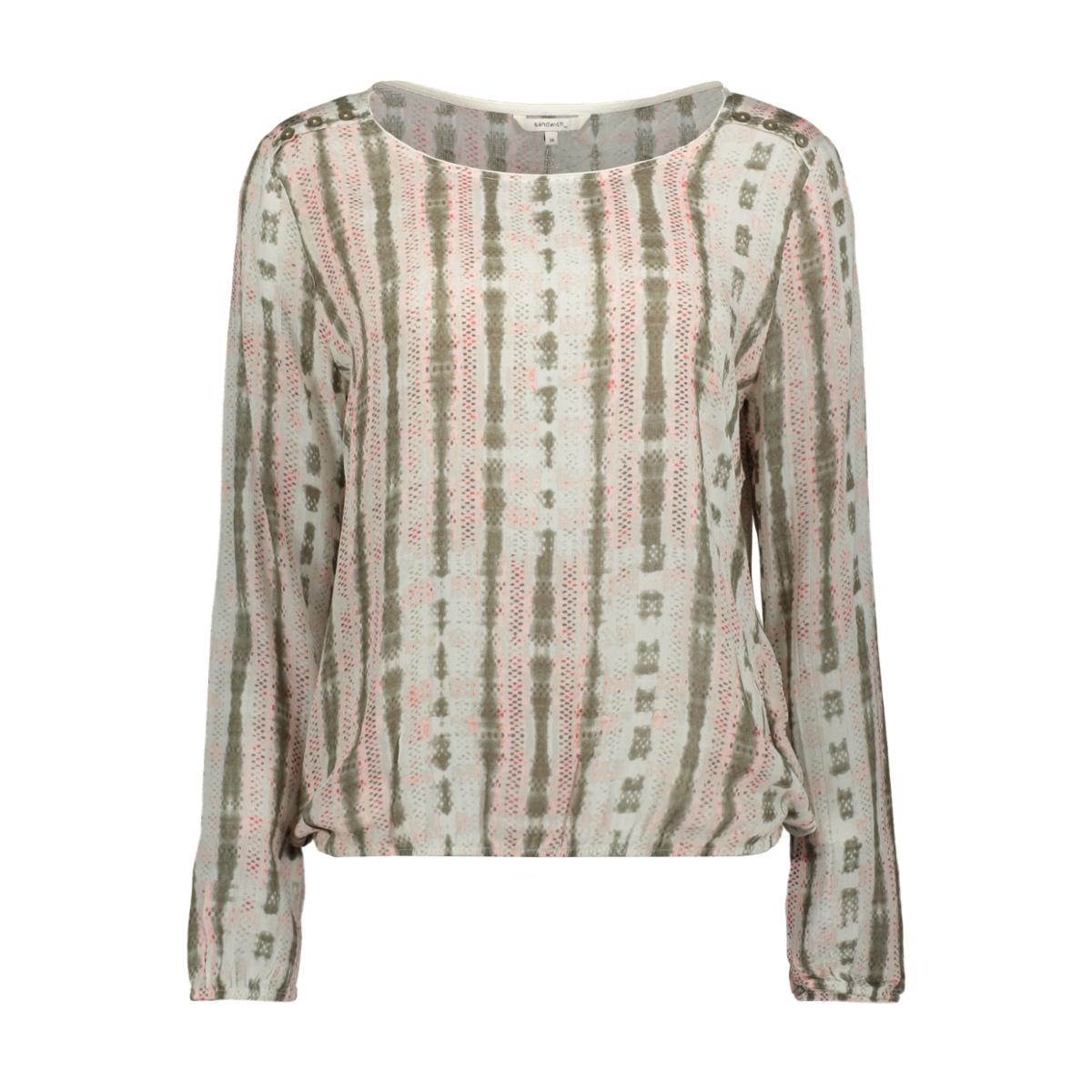 blouse met sierknoopjes 22001687 sandwich blouse 50097