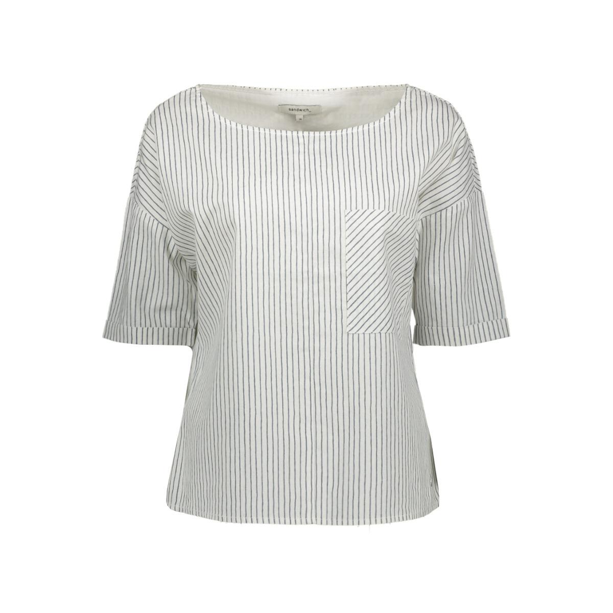 blouse met streeppatroon 22001686 sandwich blouse 10058