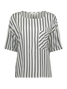 gestreepte blouse met borstzak 22001700 sandwich blouse 10092