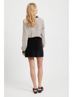 vikit l/s shirt 14055381 vila blouse cloud dancer/navy blazer