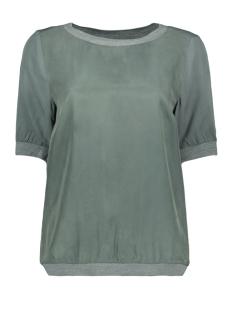 Sandwich T-shirt SOEPEL VALLENDE TOP MET GEWEVEN BOORD 22001717 50044