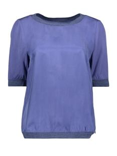 Sandwich T-shirt SOEPEL VALLENDE TOP MET GEWEVEN BOORD 22001717 70025