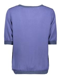 soepel vallende top met geweven boord 22001717 sandwich t-shirt 70025