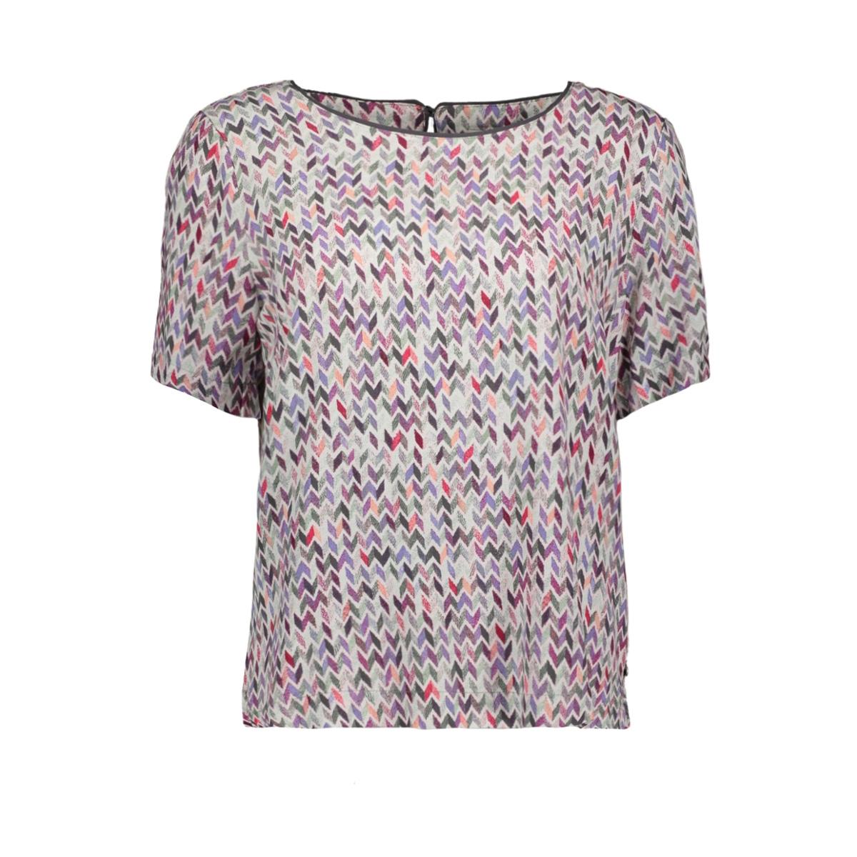 top met multi coloured zigzag motief 22001718 sandwich t-shirt 50040