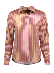 Goût d'Anvers Blouse BLOUSE BUTTON DOWN GDA12 0100 STRIPES VIOLA/SAND/HONEY