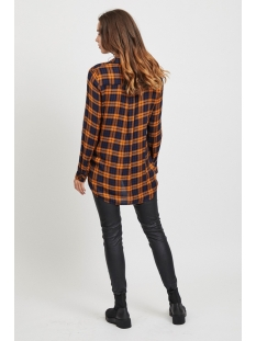 objadley l/s shirt 104 23030378 object blouse buckthorn brown/ checked