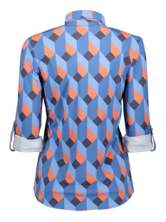 bianca printed blouse  194 zoso blouse blue/orange