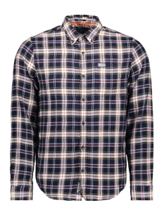 Superdry Overhemd WORKWEAR L S SHIRT M4000016A NAVY CHECK