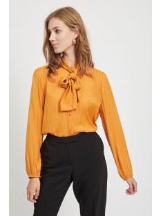 vigeeta tie l/s shirt/des 14055074 vila blouse golden oak