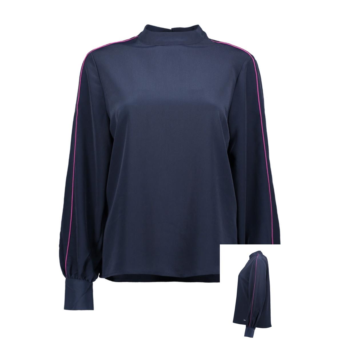 blouse met contrasterende biezen 1014679xx71 tom tailor blouse 10360