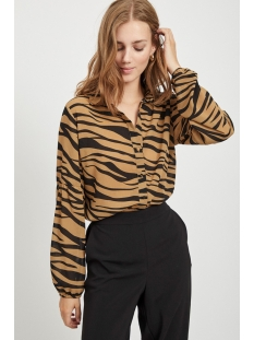 Vila Blouse VISAFFAZINNIA L/S SHIRT 14054832 TIGERS EYE BLACK
