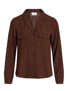 vilinas l/s shirt/l 14057559 vila blouse black/black w. c