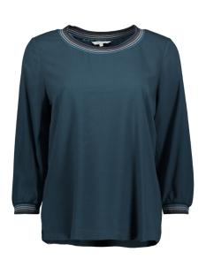 Sandwich T-shirt TOP MET GESTREEPTE LUREX BIES 22001759 50075