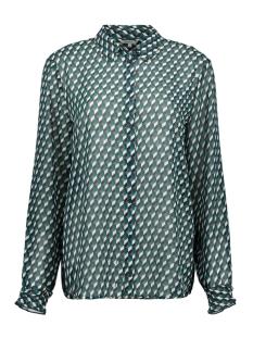 licht transparante blouse grafische print 22001764 sandwich blouse 50080