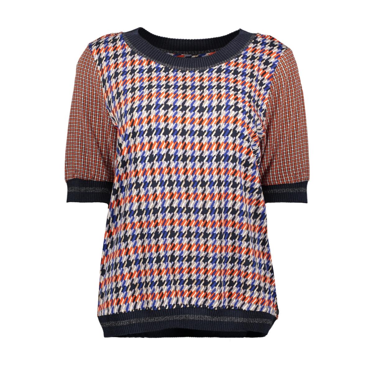 top met pied de poule patroon 22001756 sandwich t-shirt 40153