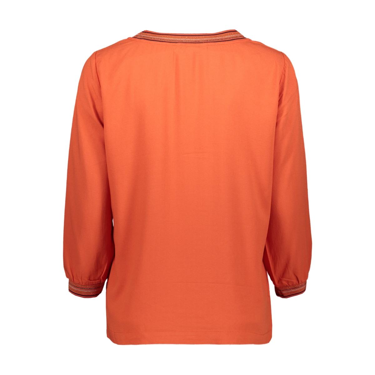 top met gestreepte lurex bies 22001759 sandwich t-shirt 21023