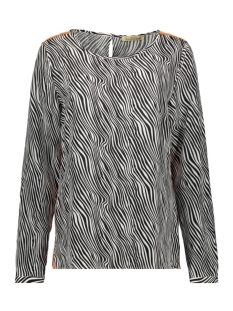 Smith & Soul Blouse BLOUSE WITH TAPES 1019 3044 5724 ZEBRA