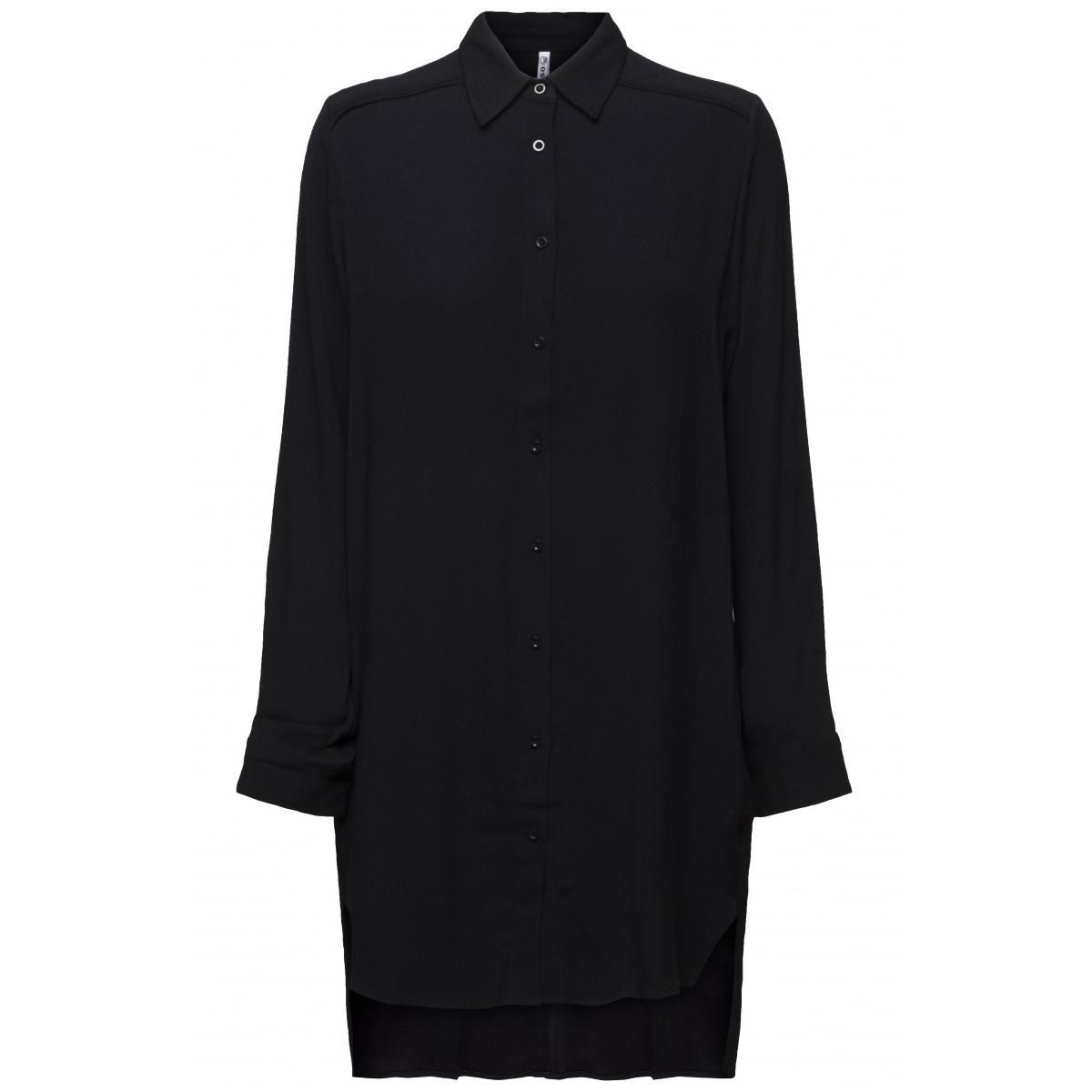 abby crepe long blouse 194 zoso tuniek black