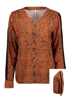 Zoso Blouse ELIN ALLOVER PRINTED BLOUSE 195 BLACK/BURNT ORANGE