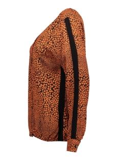 elin allover printed blouse 195 zoso blouse black/burnt orange