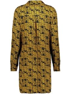 eefje allover printed blouse 195 zoso jurk black/goldyellow