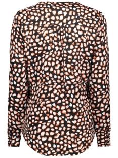 esra allover printed blouse 195 zoso blouse black/burnt orange
