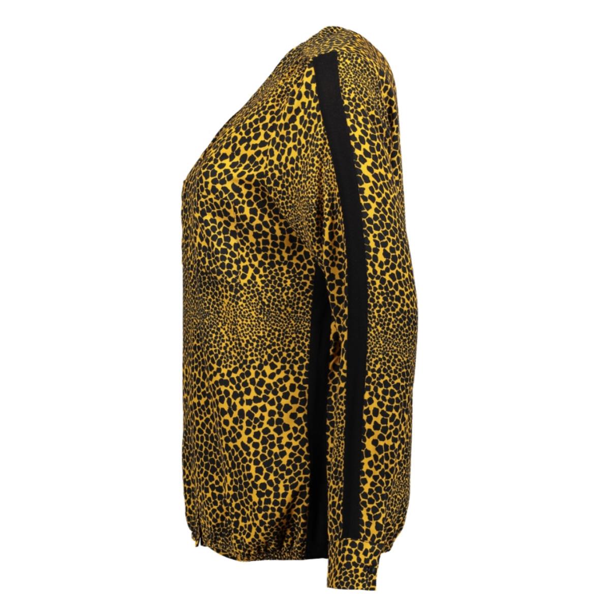 elin allover printed blouse 195 zoso blouse goldyellow/black