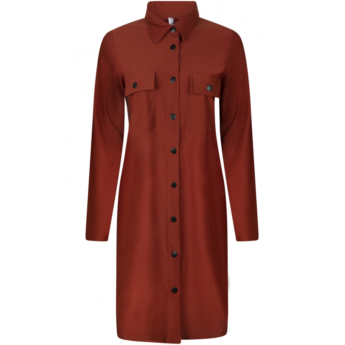 195 terry winter  long blouse zoso jurk winter brique