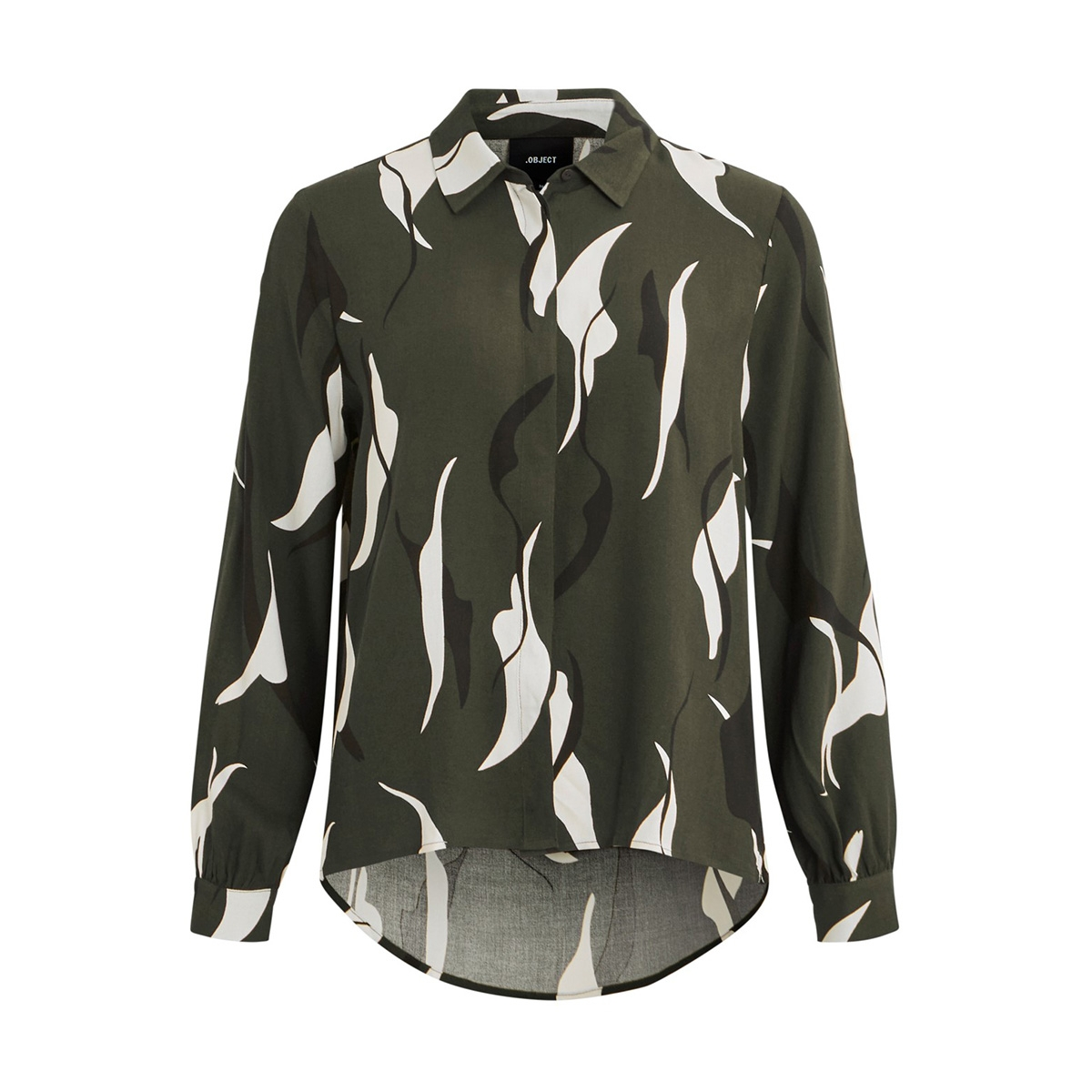 objalora bay l/s shirt rep 23031199 object blouse forest night/aop
