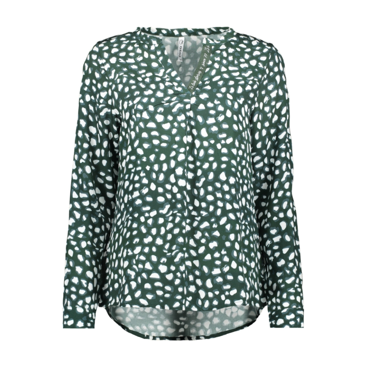 esra allover printed blouse 195 zoso blouse forest midgreen
